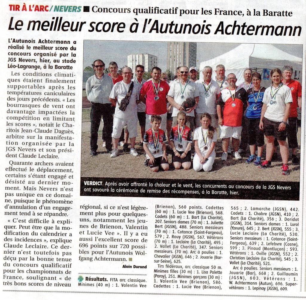 résultats                 de Nevers               JdC 06-07-2015